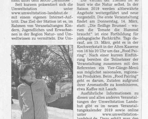 Kurse und neue Homepage - Umweltstation Landshut startet in neue Saison